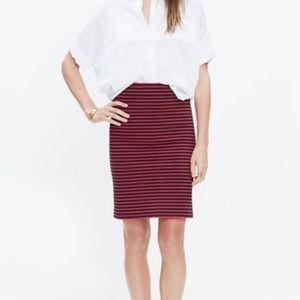 NWT Madewell striped pencil skirt
